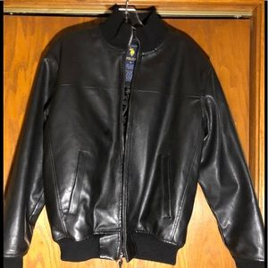 US Polo Assn Vintage Leather Jacket Size S